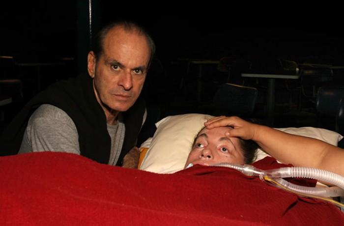 Leide e Ney Matogrosso em 2010. Foto de Fernanda Prado.