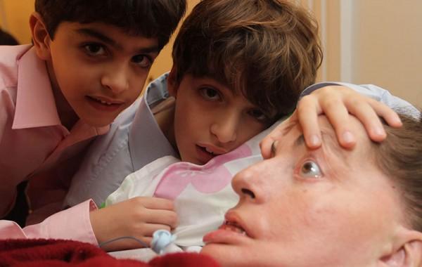 Leide e seus netos Pedro e Gabriel, em 2011. Foto Arquivo Pessoal.